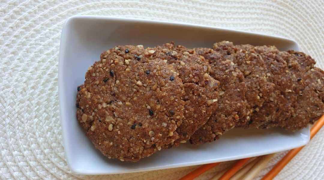 Receta galletas de avena y harina integral