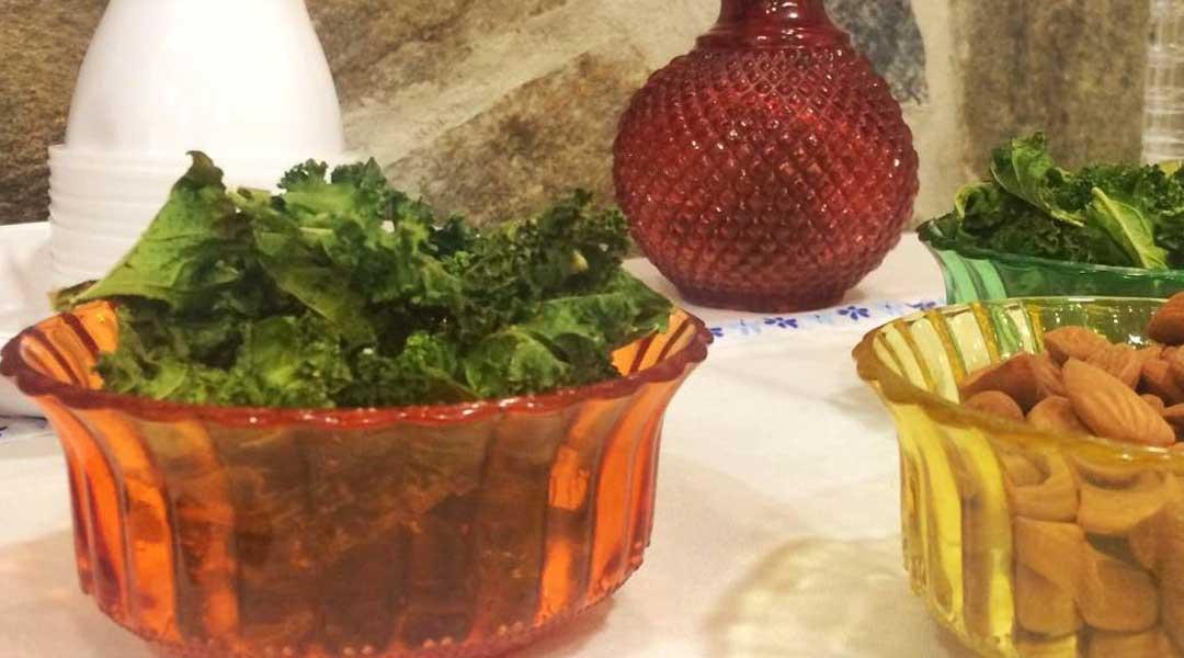 Recetas Hojas crujientes de col kale al horno