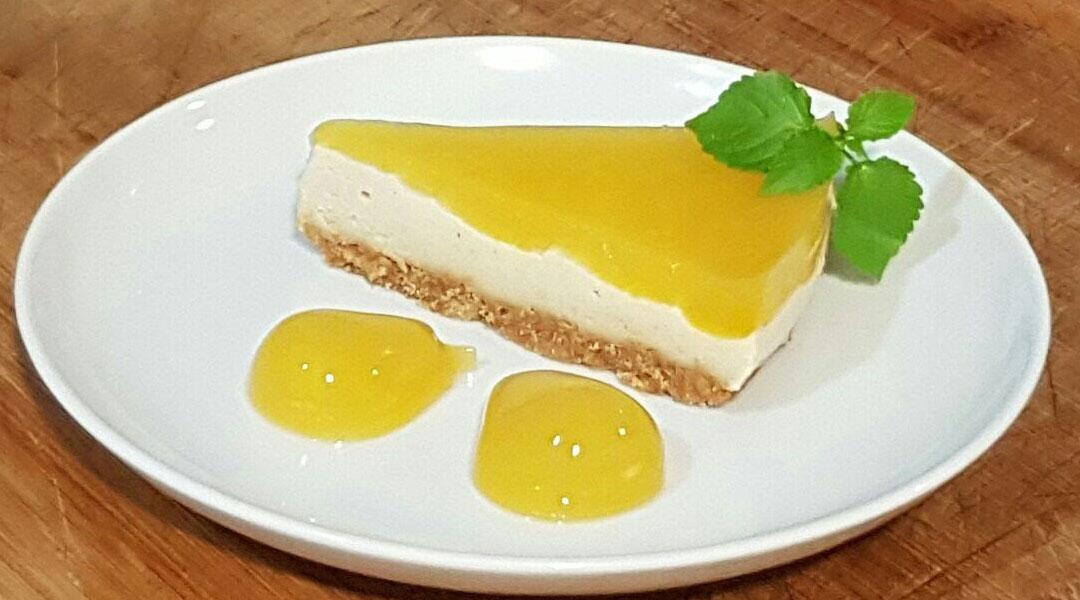 Receta Tarta de limón y anacardos con base de espelta